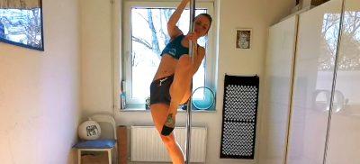 schwerelos Online Kurs Pole Dance Invert Air