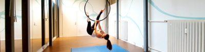 Aerial Hoop Basic Invert Heel Hook zu Knee Hook